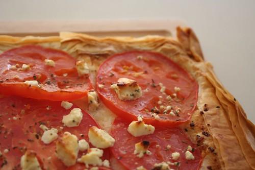 tomato feta tart
