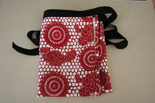 martha tea towel apron