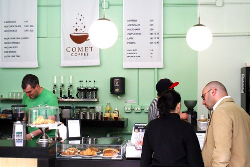 comet coffee - Ann Arbor on the boards - farm to grocery - coffee menu