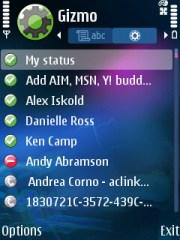 Main Gizmo Screen