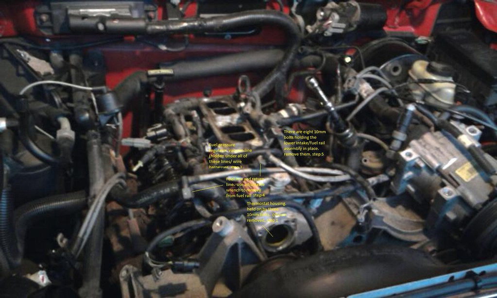 How to replace valve cover gaskets, fuel rail gaskets and lower