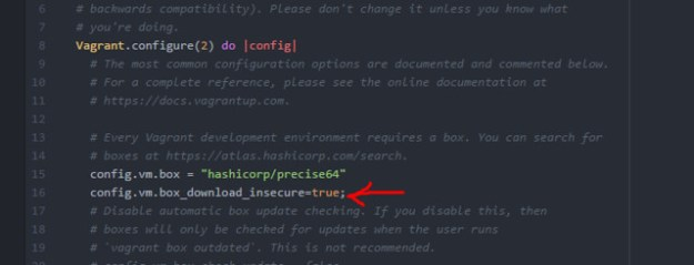 Vagrant download insecure