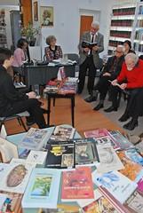 prof. Dan Bliderisanu Ziua Cărţii la Secţia împrumut carte pentru adulţi, Biblioteca Roman