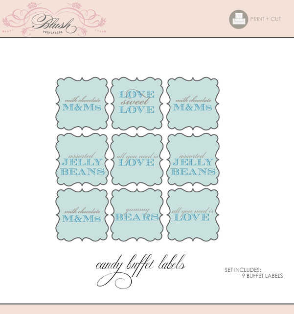 Printable Candy Buffet Tags/Signs Printable Buffet Labels \u2026 Flickr