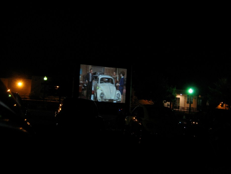 Spacepod and Phoebe at the Drive In