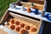 Spray painting terracotta pots | Flickr - Photo Sharing!