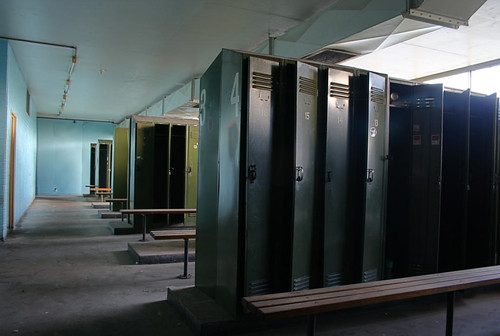 Abandoned locker room