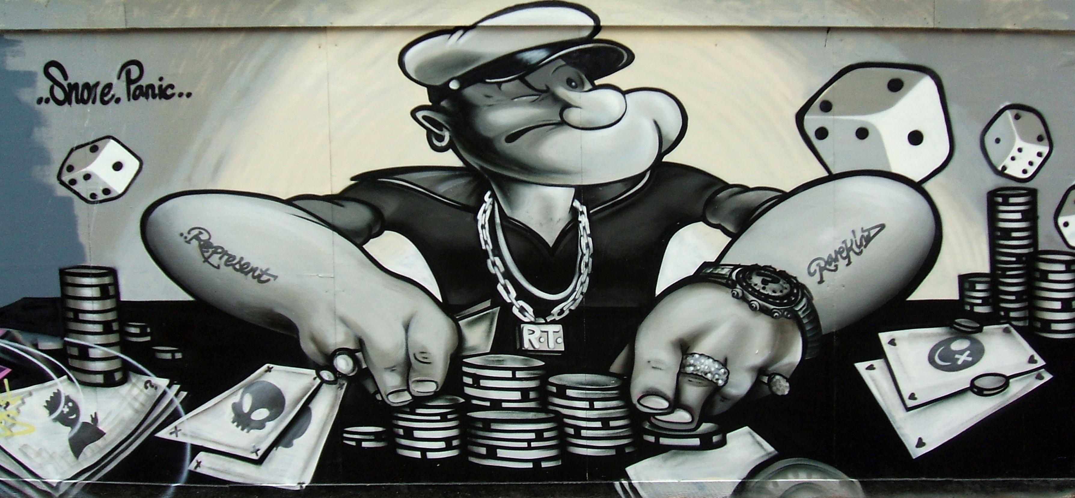 Gangster Wallpaper 3d Popeye Graffiti Flickr Photo Sharing