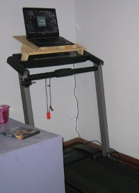 Treadmill with laptop holder | Flickr - Photo Sharing!
