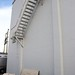 Waldorf Hotel | Back patio wall for film screenings