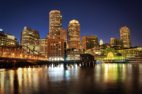 White 3d Wallpaper Hd Boston Downtown At Night Boston From Its Nicest Side I
