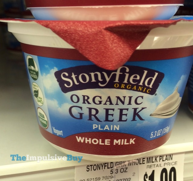 Stonyfield Organic Plain Whole Milk Greek Yogurt