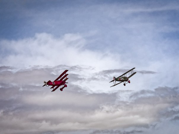 Snoopy and the Red Baron - WW I aircraft flight demonstration