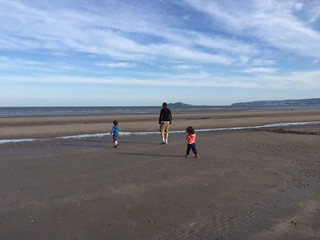 The wide Portmarnock beach, Dublin