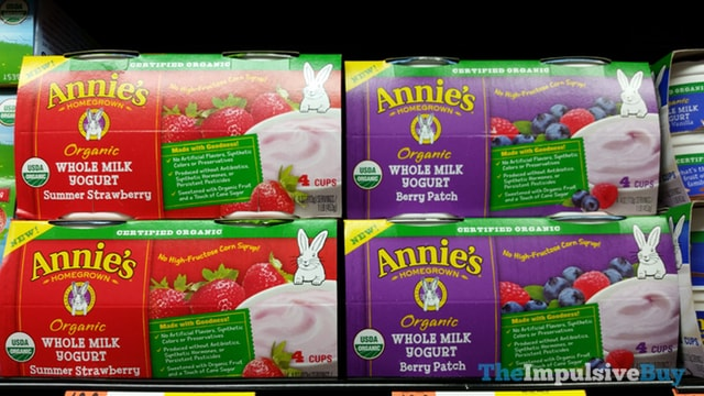 Annie's Homegrown Organic Whole Milk Yogurt (Summer Strawberry and Berry Patch)