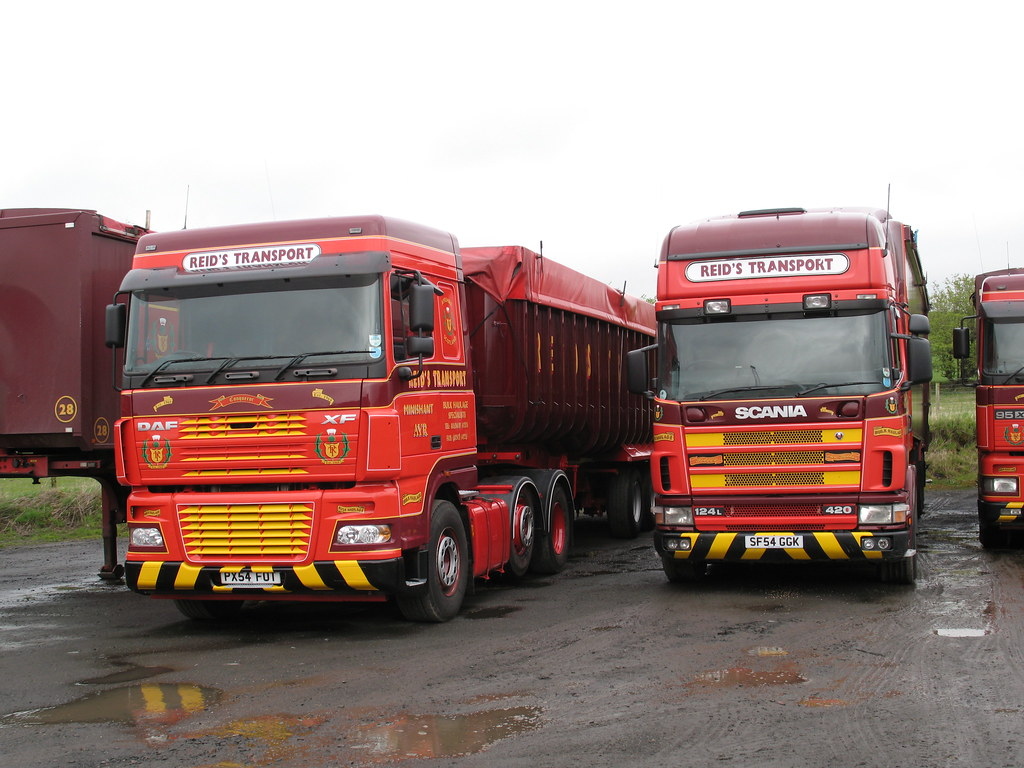 Daf Scania Daf Scania Two Tippers In The Erstwhile Reid S Transport Flickr