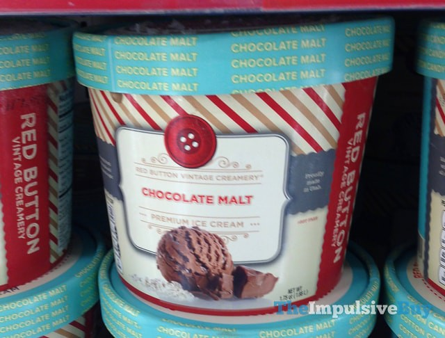 Red Button Vintage Creamery Chocolate Malt Premium Ice Cream