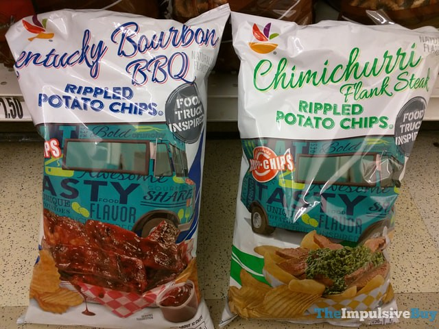 Giant Food Truck Inspired Rippled Potato Chips (Kentucky Bourbon BBQ and Chimichurri Flank Steak)