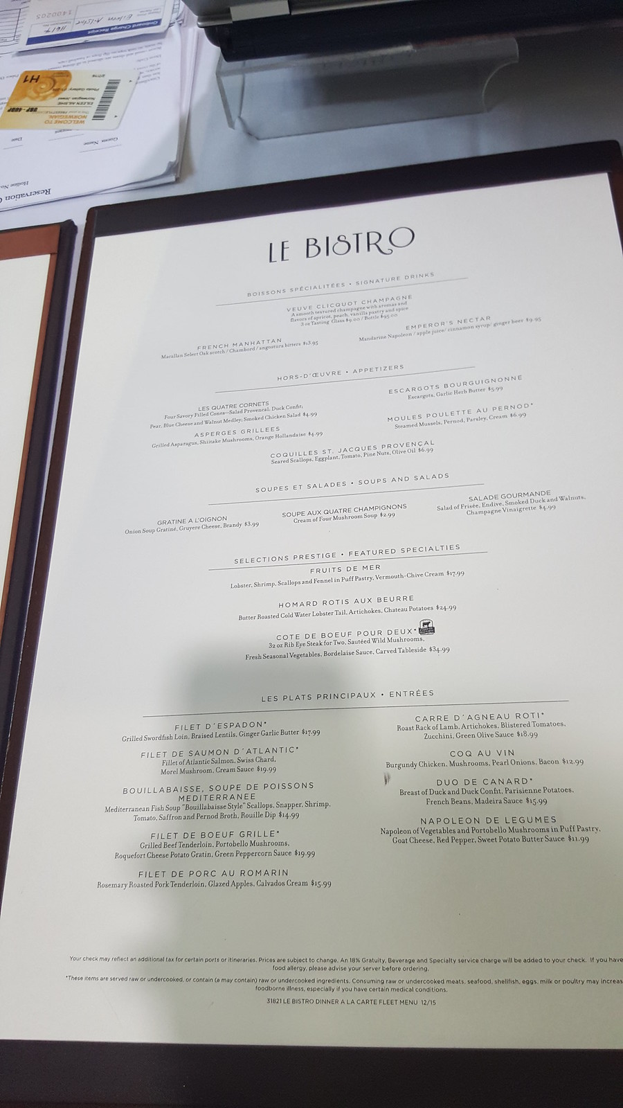 Norwegian Jewel La Cucina Menu Ncl Jewel Menus Norwegian Cruise Line Cruise Critic Community