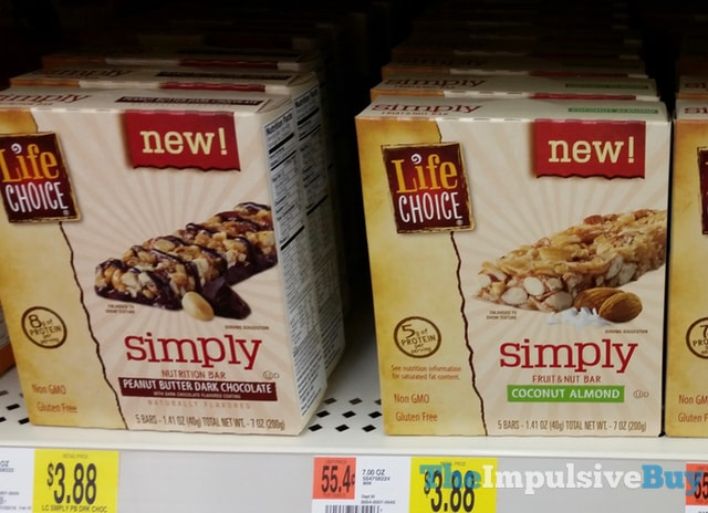 Life Choice Simply Peanut Butter Dark Chocolate Nutrition Bar and Coconut Almond Fruit & Nut Bar