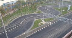 鈴鹿サーキットの約十分の一レンタルカートコース建設中の様子(3月30日撮影)