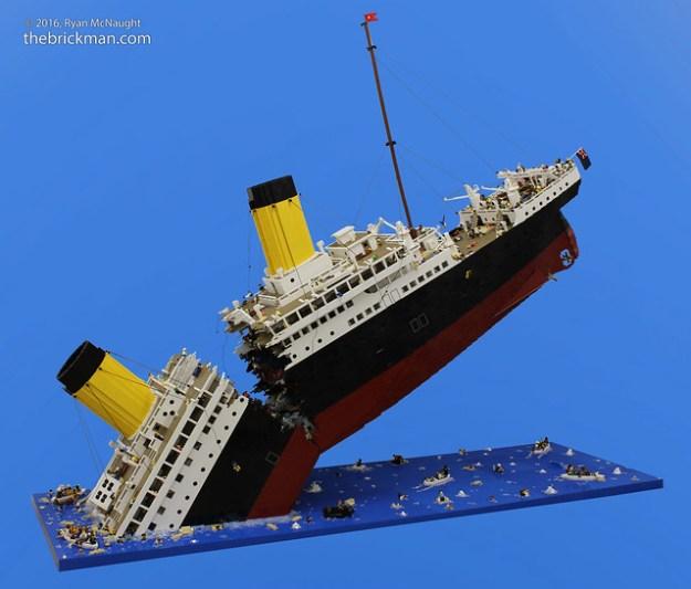 LEGO Sinking Titanic