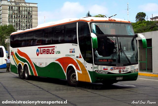 Turibus Internacional - Puerto Montt - Marcopolo Paradiso 1200 / Scania (BYDV23)