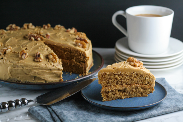 Coffee and Walnut Cake Recipe on www.inthiskitchen.com