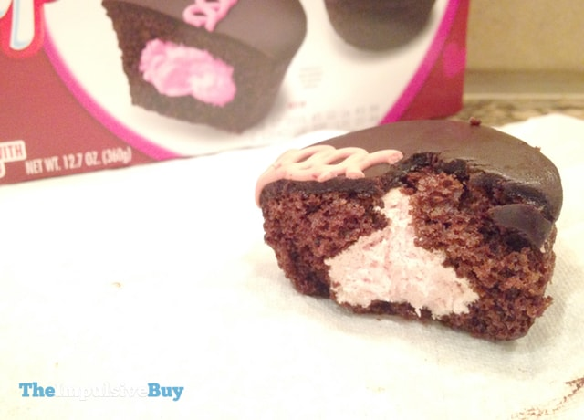 Hostess Limited Edition Dark Chocolate Raspberry Cupcakes 3