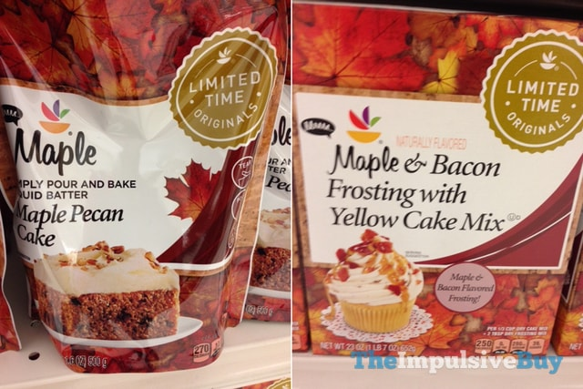 Giant Limited Time Originals Maple Pecan Cake and Maple & Bacon Frosting with Yellow Cake Mix