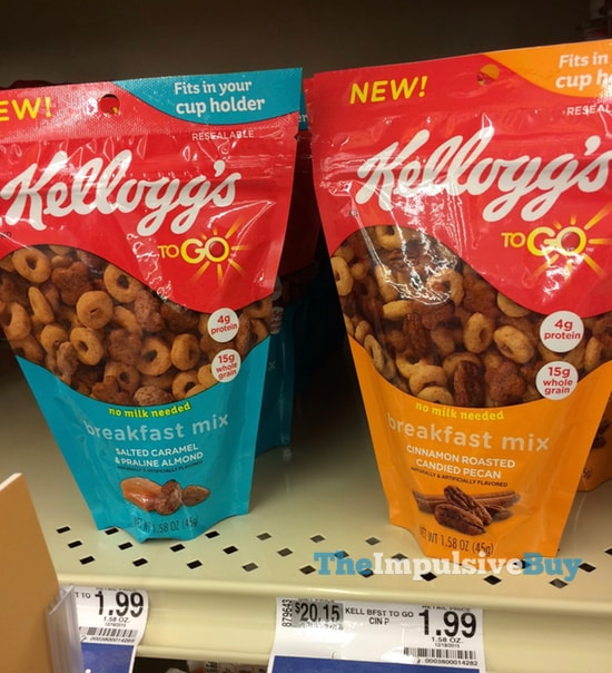 Kellogg's To Go Breakfast Mix (Salted Caramel & Praline Almond and Cinnamon Roasted Candied Pecan)
