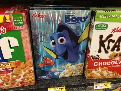 Hey! They have a cereal for Finding Dory!
