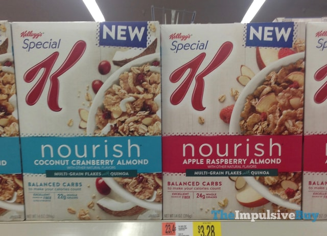 Kellogg's Special K Nourish Coconut Cranberry Almond and Apple Raspberry Almond