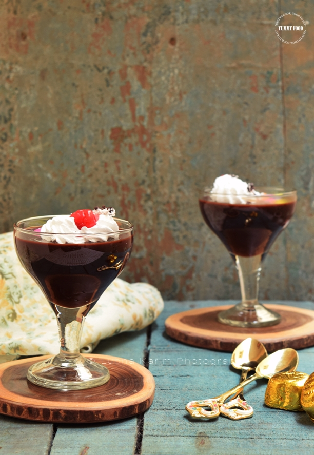 Chocolate Espresso Custard Pudding