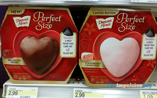 Duncan Hines Perfect Size Red Velvet Crush and Limited Edition Strawberry Lemon Kiss