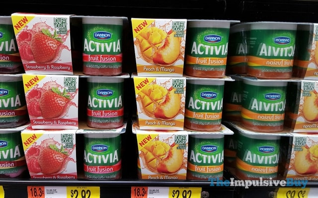 Dannon Activia Fruit Fusion (Strawberry & Raspberry and Peach & Mango)