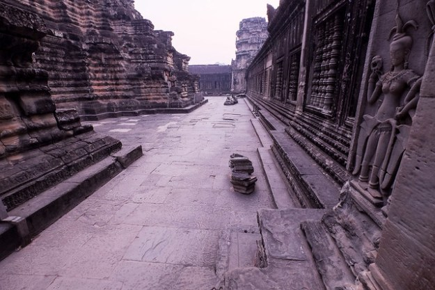 Deserted Angkor Wat