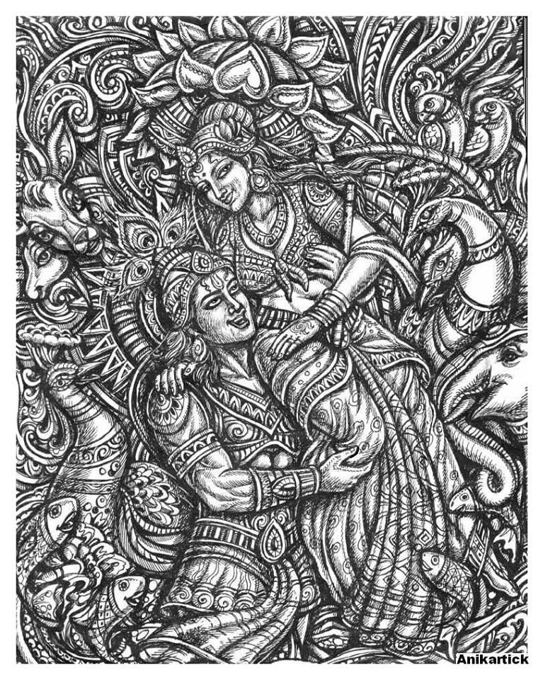 Krishna And Radha Hd Wallpaper Artist Anikartick Vasu Engira Karthikeyan S Most Recent