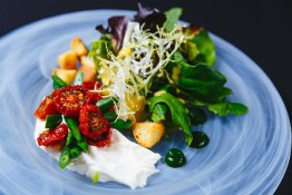 Fall Bistro Salad with housemade fromage blanc