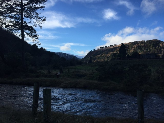 Glendalough means 'the valley of the two lakes' and the two lakes are indeed visible if climbing up the amazing hills surrunding Glendaligh monastic site. Follow the river, in the photo, to the lower lake if visiting Glendalough with children but do one of the easy hikes for the best views