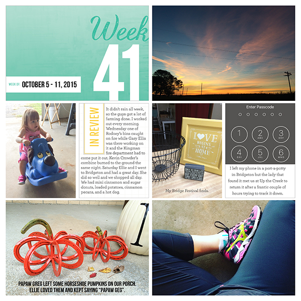 Project Life 2015 Week 41
