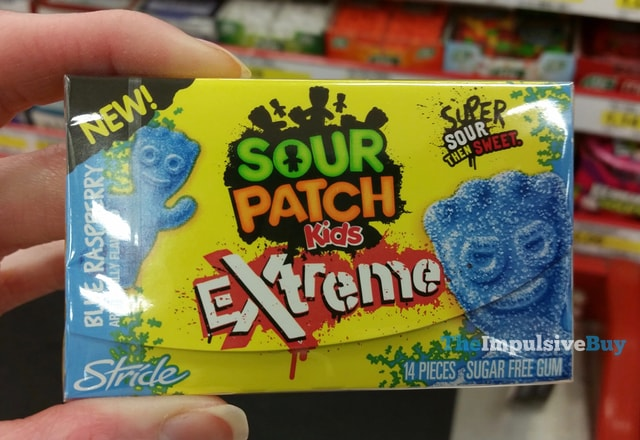 Stride Sour Patch Kids Extreme Blue Raspberry Gum