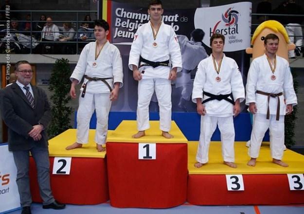Champion de Belgique: Dilyan Nikiforov et Vice champion de Belgique: Broqi Alban