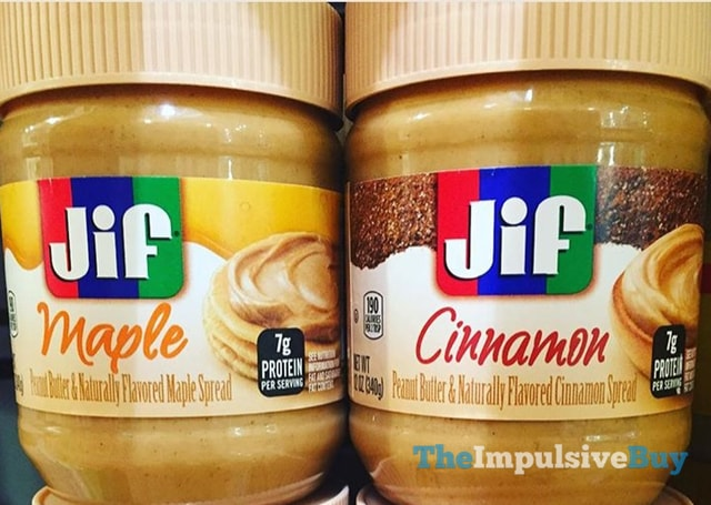 Jif Peanut Butter & Maple and Cinnamon & Maple Spreads