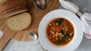 smoky chickpea soup