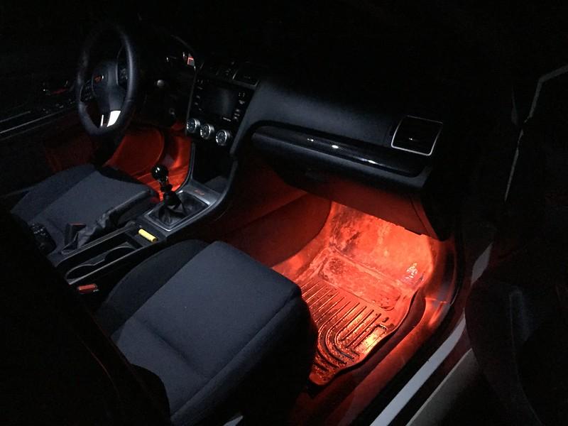 2015 WRX Footwell Illumination - DIY to light w/ doors (dome light