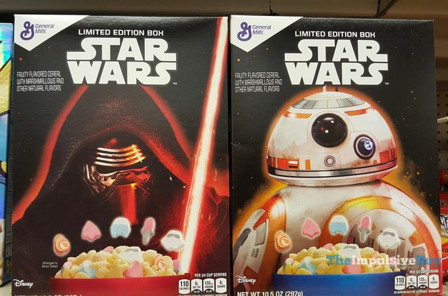 General Mills Star Wars Cereal Limited Edition Boxes with Kylo Ren and BB-8