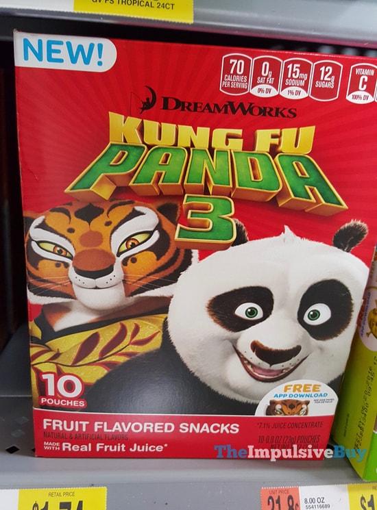 DreamWorks Kung Fu Panda 3 Fruit Flavored Snacks