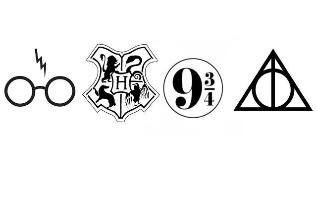 harry potter text symbols