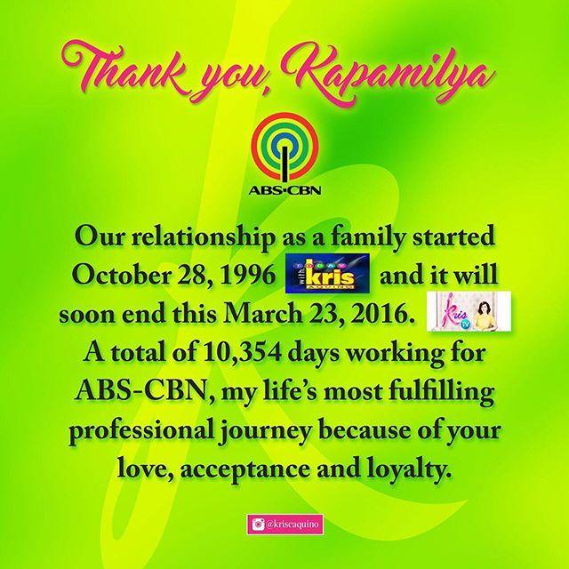 Kris Aquino goodbye notes